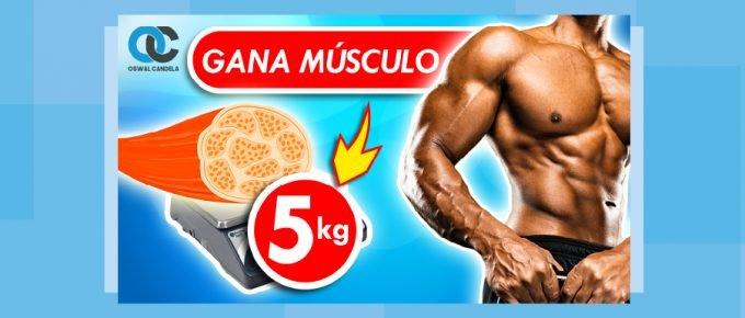 Cómo aumentar 5 kilos de músculo